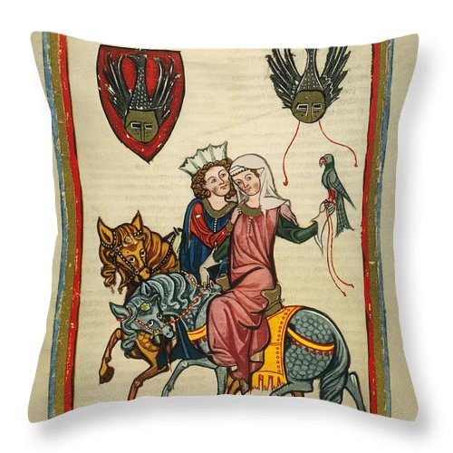 14th Century Throw Pillow featuring the photograph Heidelberg Lieder by Granger