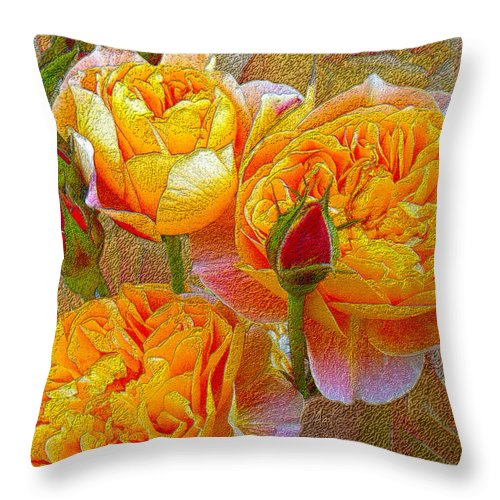 Heirloom Impressionist Roses Throw Pillow for Sale by Michele Avanti