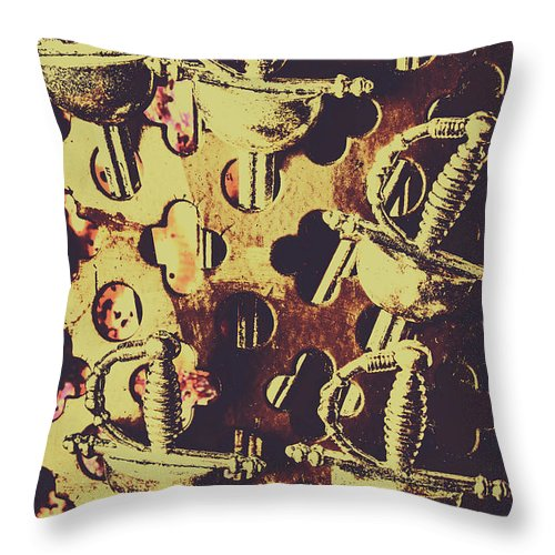 Historical Throw Pillow featuring the photograph Helm Of Antique War by Jorgo Photography - Wall Art Gallery