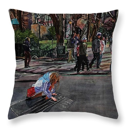 Political Throw Pillow featuring the painting Help by Valerie Patterson