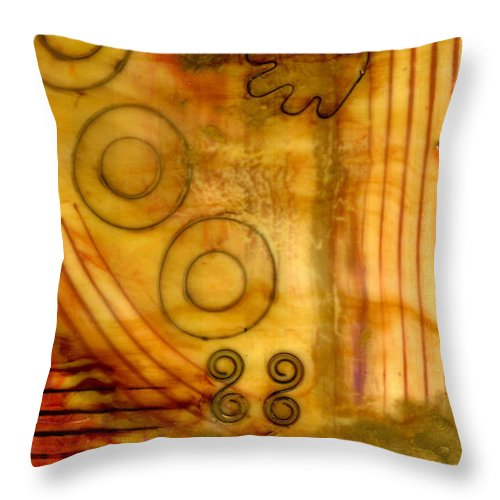 Wood Throw Pillow featuring the mixed media Helping Hands by Angela L Walker