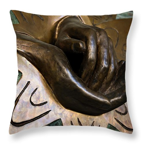 Italy Throw Pillow featuring the photograph Helping Hands by Marilyn Hunt