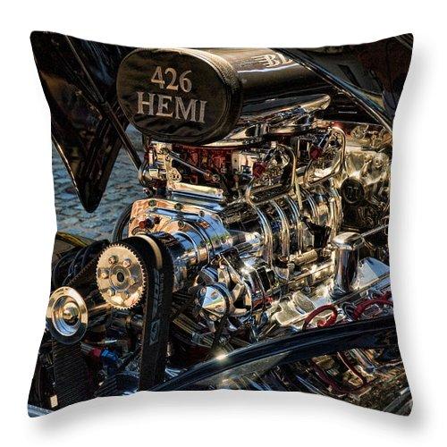 Hemi Throw Pillow featuring the photograph Hemi Engine by Edward Sobuta