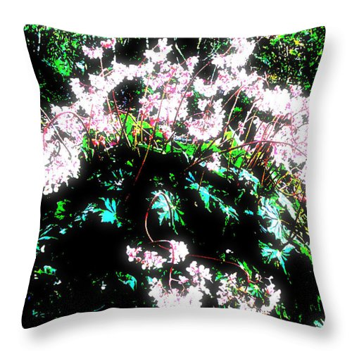 Square Throw Pillow featuring the digital art Her Diadem by Eikoni Images