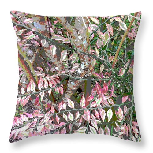 Square Throw Pillow featuring the digital art Her Gown by Eikoni Images