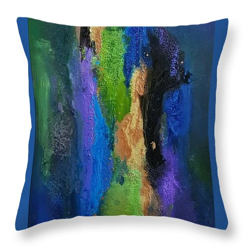 Throw Pillow featuring the painting Hera by Rosemary Hadeed