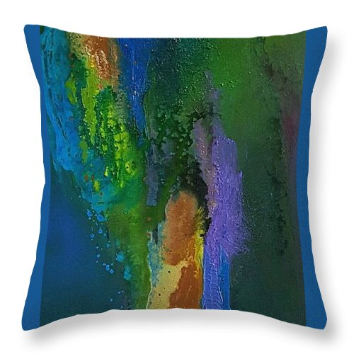 Throw Pillow featuring the painting Hera11 by Rosemary Hadeed