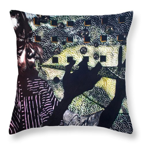 New Age Throw Pillow featuring the mixed media Herald of A New Age by Chester Elmore
