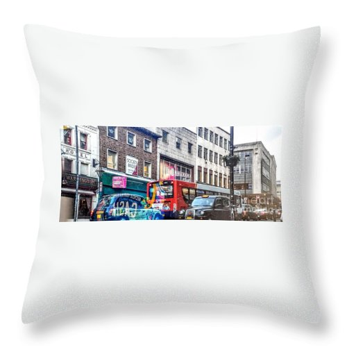 London Throw Pillow featuring the photograph Here In London by Odeliya Harel