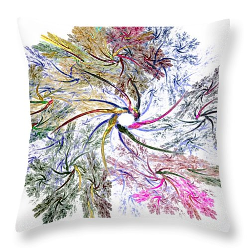 Fine Art Throw Pillow featuring the digital art Here There Be Dragons by David Lane