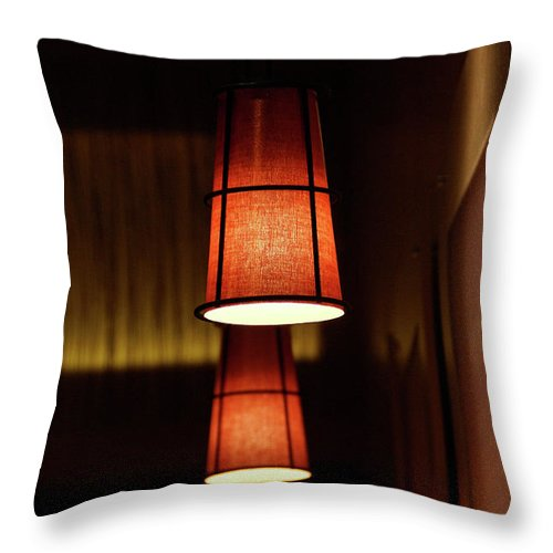 Lighting Throw Pillow featuring the photograph Here With You by Linda Shafer