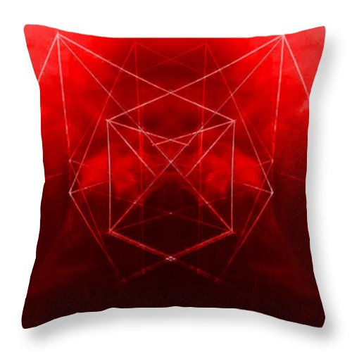 Abstract Throw Pillow featuring the digital art Here's Looking At You by John Krakora