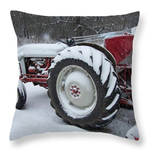 Tractor Throw Pillow featuring the photograph Herman by Gale Cochran-Smith