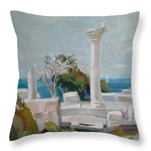 Ignatenko Throw Pillow featuring the painting Hersoness by Sergey Ignatenko