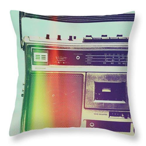 Pop Art Throw Pillow featuring the photograph Hi-fi Pop by Jorgo Photography - Wall Art Gallery