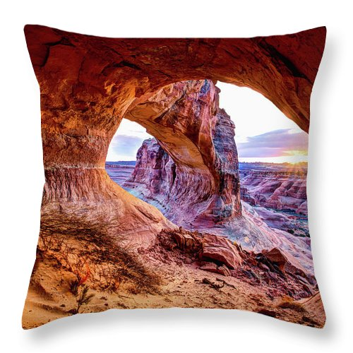 Hidden Throw Pillow featuring the photograph Hidden Alcove by Chad Dutson