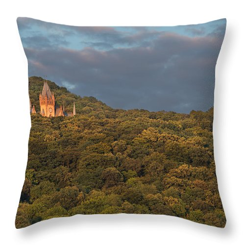 Throw Pillow featuring the photograph Hidden Castle by Andre Distel