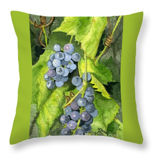 Frog Throw Pillow featuring the painting Hidden IIi Part 2 by Mary Tuomi