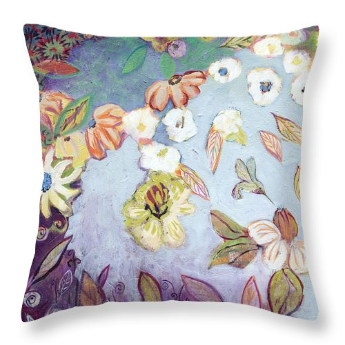 Water Throw Pillow featuring the painting Hidden Lagoon Part I by Jennifer Lommers