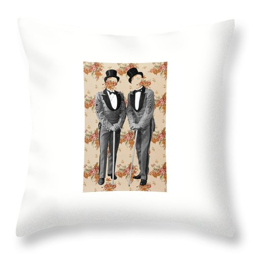 Collage Throw Pillow featuring the digital art Hidden Lover. by Pixel Wit