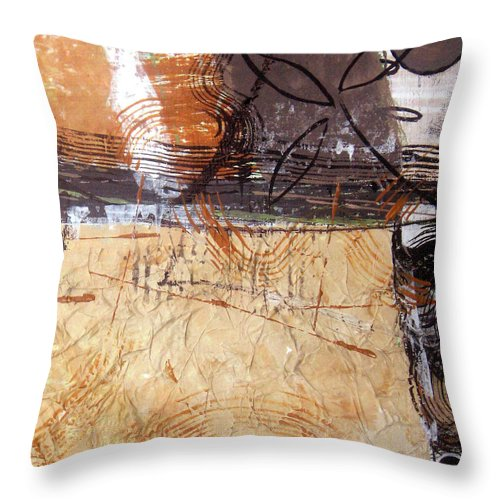 Abstract Throw Pillow featuring the painting Hidden Treasures II by Ruth Palmer
