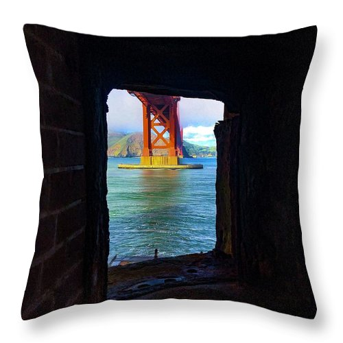 San Francisco Throw Pillow featuring the photograph Room With A View by Rand