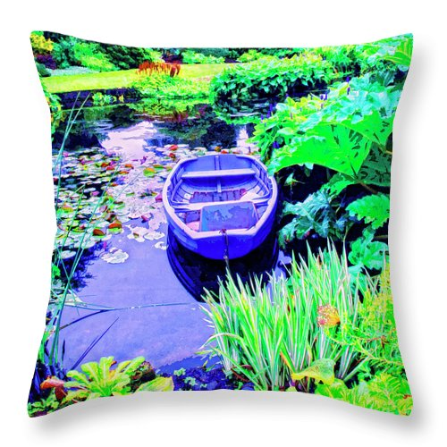 Hideaway Throw Pillow featuring the mixed media Hideaway by Dominic Piperata