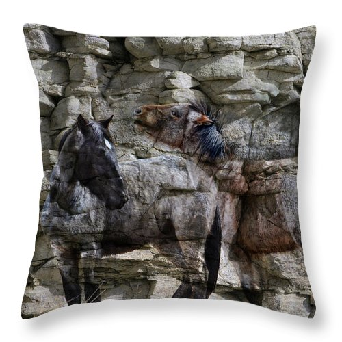 Horse Throw Pillow featuring the photograph Hiding Out by Ed Hall