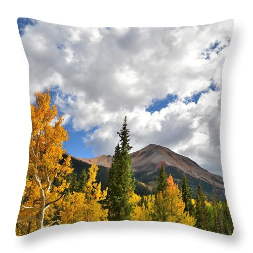Colorado Throw Pillow featuring the photograph High Country Fall by Ray Mathis