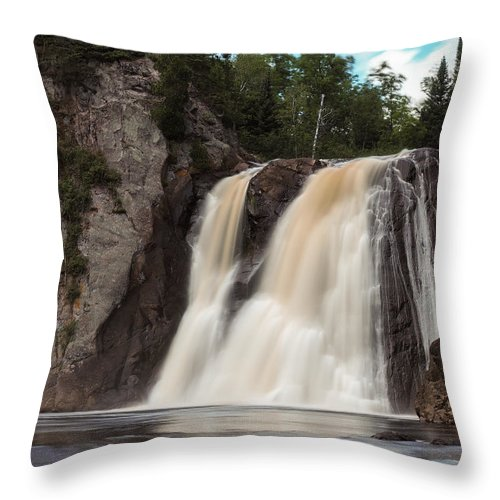 Waterfall Throw Pillow featuring the photograph High Falls Of Tettegouche State Park 1 by AMB Fine Art Photography