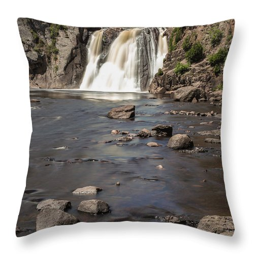 Waterfall Throw Pillow featuring the photograph High Falls Of Tettegouche State Park 3 by AMB Fine Art Photography