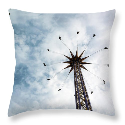 Pne Throw Pillow featuring the photograph High Flying by Wayne Wilton