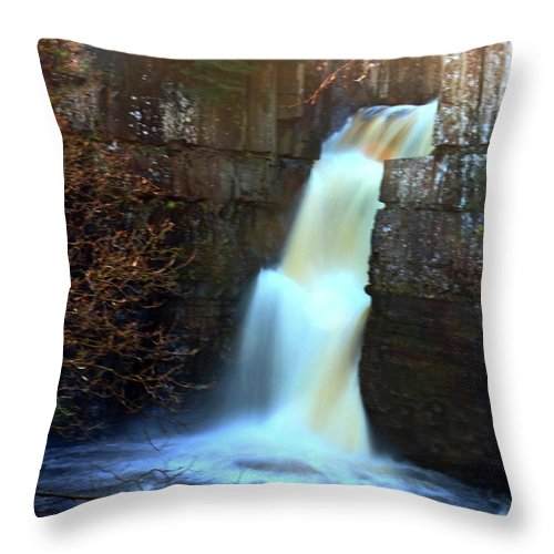 Waterfall Throw Pillow featuring the photograph High Force by Jeff Townsend