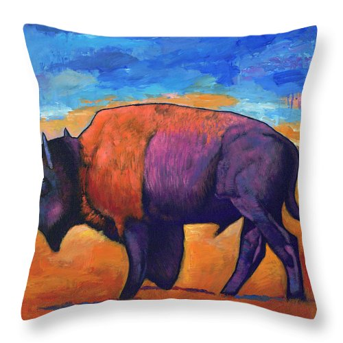 Animals Throw Pillow featuring the painting High Plains Drifter by Johnathan Harris