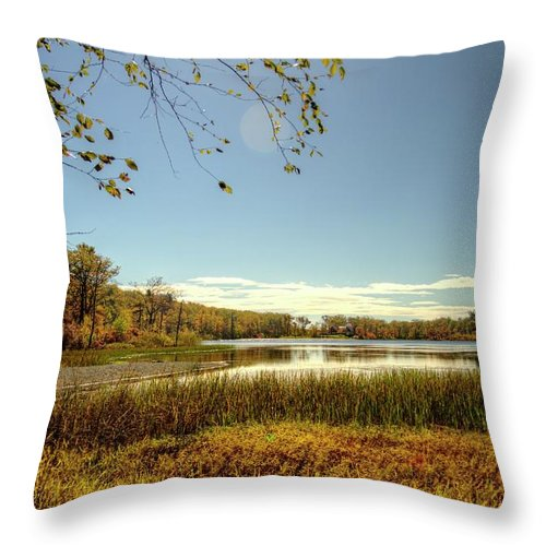 Recent Throw Pillow featuring the photograph High Point Autumn Scenic by Geraldine Scull