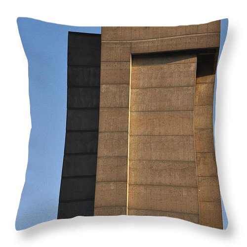 Building Throw Pillow featuring the photograph High Rise by Tim Nyberg