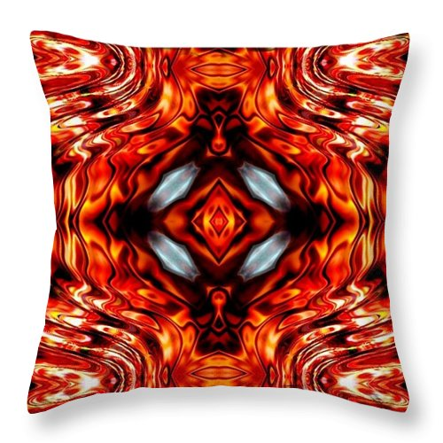Abstract Throw Pillow featuring the digital art High Society by Robert Orinski