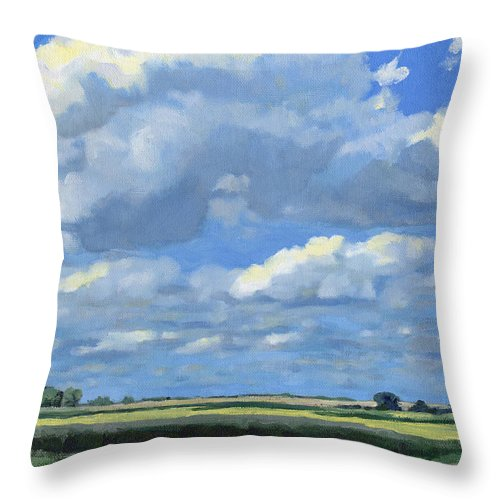 Landscape Throw Pillow featuring the painting High Summer by Bruce Morrison