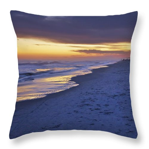 Beach Throw Pillow featuring the photograph High Tide In Fading Light by Phill Doherty