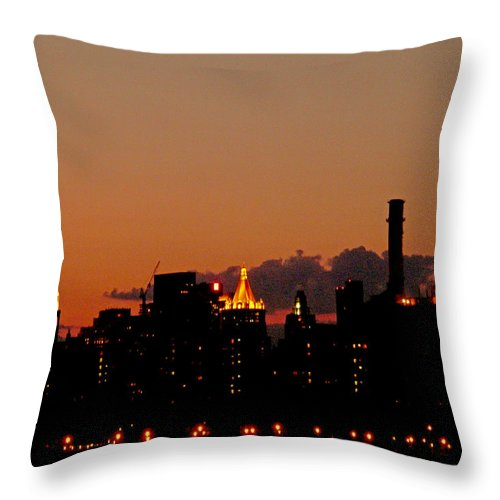New York Throw Pillow featuring the photograph Higher And Higher by Kendall Eutemey