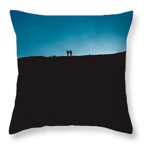 Throw Pillow featuring the photograph Hill Walkers by Marc Daly