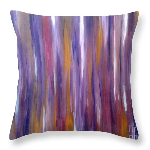 Wood Throw Pillow featuring the painting Hillbilly Love Shack by Go Inspire Beauty