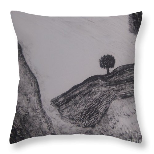 Nature Throw Pillow featuring the painting Hills by Emily Young