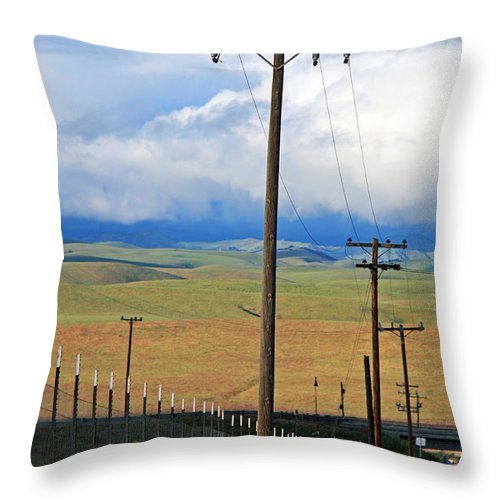Hills Throw Pillow featuring the photograph Hills Of Chatter by Kathy Yates