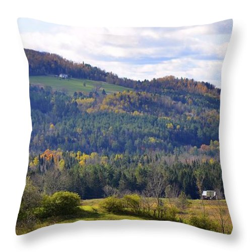 Vermont Throw Pillow featuring the photograph Hills Of Vermont by Corinne Rhode