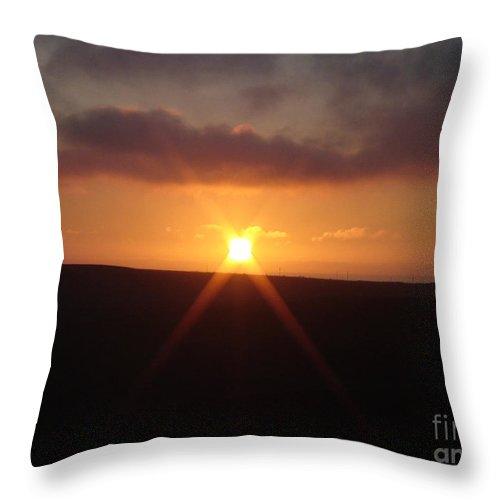 Sunset Throw Pillow featuring the photograph Hillside Sunset by Cassandra Geernaert