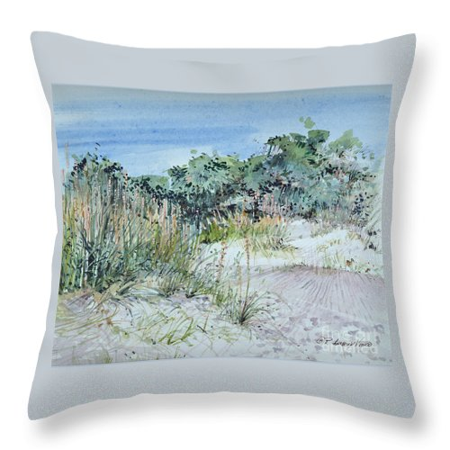 Landscape Throw Pillow featuring the painting Hilton Head Beach Fauna by P Anthony Visco