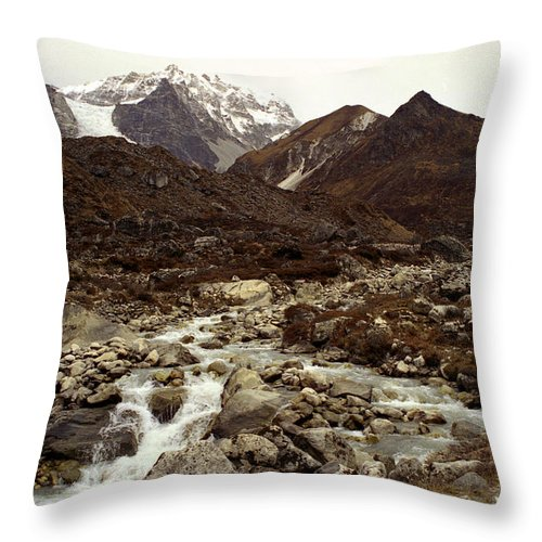 Himalaya Throw Pillow featuring the photograph Himalaya by Patrick Klauss