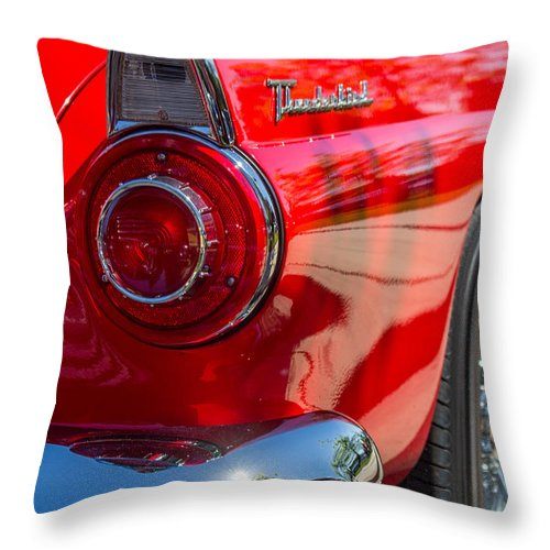 Car Show Throw Pillow featuring the photograph Hind Quarter by Marnie Patchett