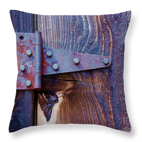 Hinge Throw Pillow featuring the photograph Hinged by Debbi Granruth